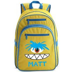One-Eyed Monster Personalized Large Yellow Backpack