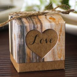 Personalized Rustic Heart Favor Boxes