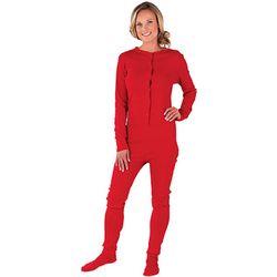 Women's Red Dropseat Pajamas