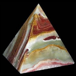 Gemstone Onyx Pyramid Decoration