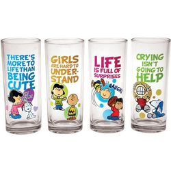 Peanuts Quotes Juice Glasses