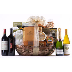 Grand Reserve Gourmet Wine and Snack Basket