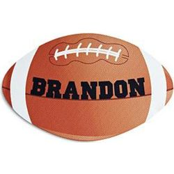 Football-Shaped Personalized Doormat