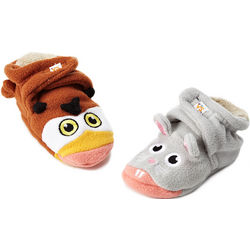 Owl vs Mouse Baby Booties