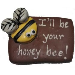 Hand-Decorated Honey Bee Cookie