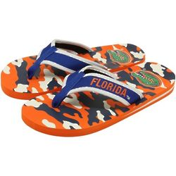 Florida Gators Camo Orange and Royal Blue Flip Flops