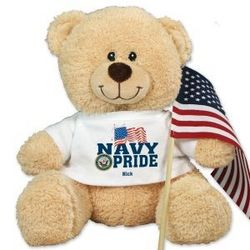 Personalized Military Pride Sherman Teddy Bear