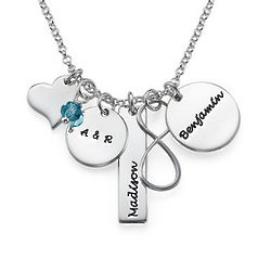 Infinity Charm Necklace for Mom