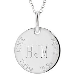 New Mother's Personalized Sterling Silver Pendant