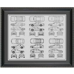 BMW Blueprint Collection Art Print