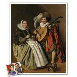 The Duet Classic Painting Personalized Art Print