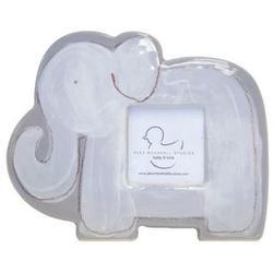 Personalized White Elephant Ceramic Frame