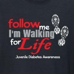 Walking for Life Juvenile Diabetes Awareness Long-Sleeve Shirt