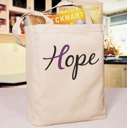 Hope Ribbon Tote Bag