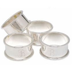 Personalized Silver Napkin Rings