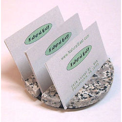 Round 3 Slot Granite Business Card Holder