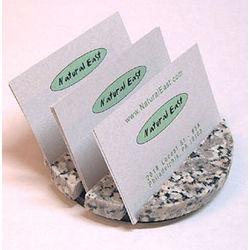 Round 3 Slot Granite Business Card Holder