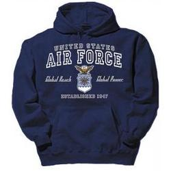 US Air Force Navy Blue Hooded Sweatshirt