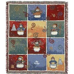 Whimsical Snowman Blanket