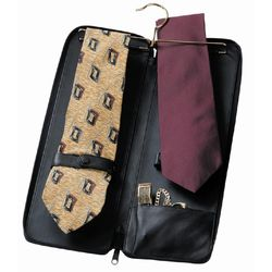 Personalized Leather Deluxe Tie Case