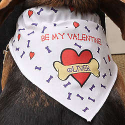 Personalized Be My Valentine Dog Bandana