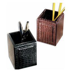 Crocodile Leather Pencil Cup