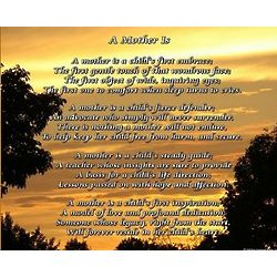 A Mother Is Poem 8x10 Print