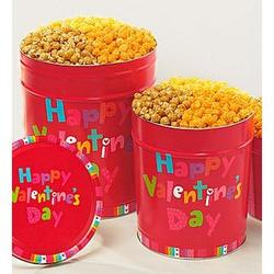 Happy Valentine's Day 4 Flavor Popcorn Tins