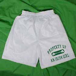 Property of My Irish Girl Men's Personalized Mesh Shorts