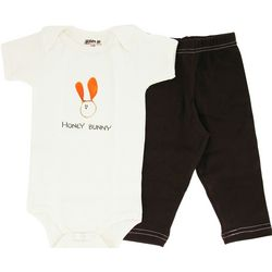 Honey Bunny Short Sleeve Bodysuit Baby Gift Set