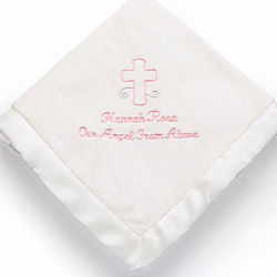 Personalized God Bless Baby Blanket