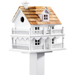 Wooden Cape Cod Birdhouse with Matching Pole