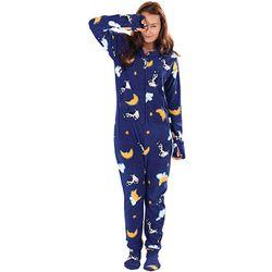Moons and Cows Hoodie-Footie Pajamas
