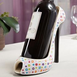 Blooming Chic High Heel Wine Bottle Holder
