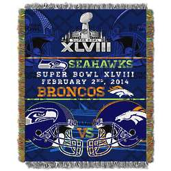 Super Bowl Collision Tapestry Throw Blanket