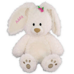 Embroidered Magnolia Bunny Stuffed Animal