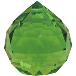 Hanging Multi-Faceted Emerald Green Crystal Ball