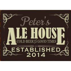 Personalized Ale House Wall Sign