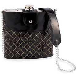 So Fancy Black Purse Liquor Flask