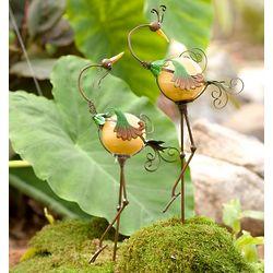 Solar Bird Garden Stakes