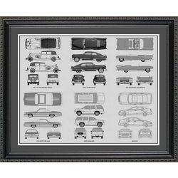 Cadillac Blueprint Collection Art Print