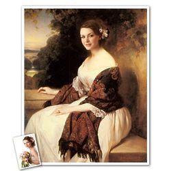 Classic Painting Madame Ackerman Personalized Art Print