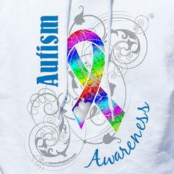 Personalized Autism Ribbon Awareness Hooded Sweatshirt