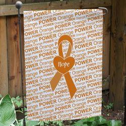 Orange Awareness Ribbon Personalized Garden Flag