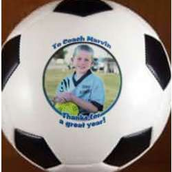 Personalized Mini Soccer Photo Ball Trophy