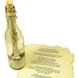 Sea of Love Message Gift Bottle with Scroll