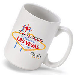 Personalized Vegas Bachelor Party Coffee Mug