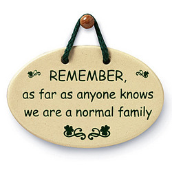 Normal Family Plaque