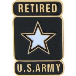 Army Star Retired Pin