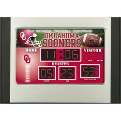 University of Oklahoma College Sports Scoreboard Desk Clock